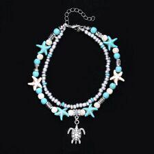Fashion Tortoise Foot Ankle Beaded Bracelet Beach Sandal Chain Women Jewelry New