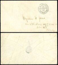 1849c Blood's Despatch CHOICE STRIKE 26 So. Sixth 28. Double-Circle H/S on Cover