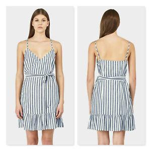HUFFER | Womens Resort wrap striped Dress  [ Size  AU 8 or US 4 ]