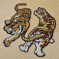 Animal Tiger Embroidered Sewing Iron On Patch Applique Clothes Decor DIY Crafts