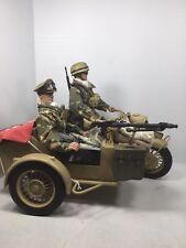1/6 21ST CENTURY GERMAN DAK LUFTWAFFE FMJ PARA MOTORCYCLE & SIDECAR MG-34 WW2