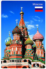 Fridge magnet vinyl Moscow Russia St Basil's Cathedral souvenir,gift educational