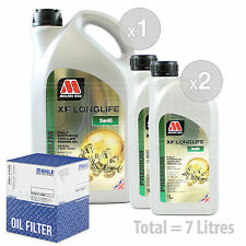 Engine Oil and Filter Service Kit 7 LITRES Millers Oils XF LONGLIFE 5w-40 7L