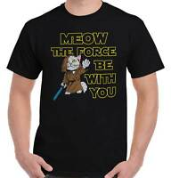 Meow Force You Cat T Shirt Tee Kitten Kitty Star Wars Funny T-Shirt Top