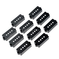 10pcs Black P90 Soap Bar Single Coil Pickup Covers For PB Bass replacement