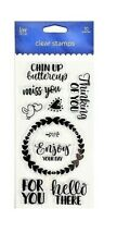Love Nicole ~ THINKING OF YOU ~ Clear Stamp Set Sentiments Miss You Chin Up