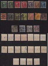 118a**USA-ETATS-UNIS (x18 Timbres-Classic stamps) TOUS DIFFÉRENTS 1908...