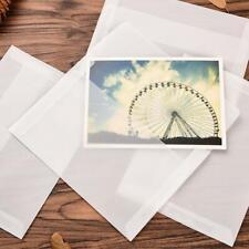 10 PCS Blank Sulfuric Acid Paper Enclosed Envelope Creative Retro Transluc Fast