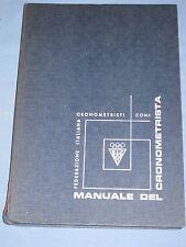 MANUALE DEL CRONOMETRISTA Federazione Italiana Cronometristi CONI   (D2)