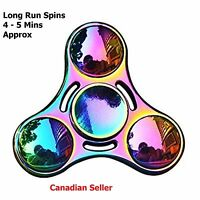 New Hand Finger Spinner Tri Bearing EDC Fidget ADHD Stress Relief Focus Rainbow