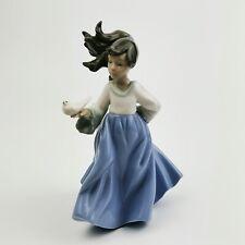 ~ Nao By Lladro ~ Winged Friend Girl & Dove 18.5cm Figurine 1088 ~ Daisa 1988 ~