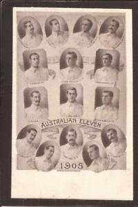 CRICKET-AUSTRALIAN ELEVEN-1905. Lindley & Co., Nottingham.