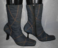 Unbranded Zip Patternless Textile Boots for Women