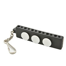 Enduring Golf Tee Holder Carrier Tees Shelf with 3 Ball Markers w/ Keychain MR
