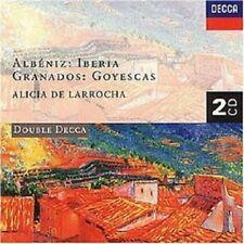 ALICIA DE LARROCHA - IBERIA/GOYESCAS  2 CD  19 TRACKS  ALBENIZ/GRANADOS  NEW+