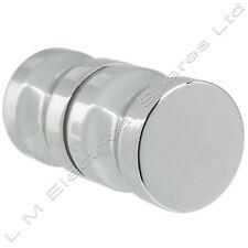 Metal cromo 30mm sola manija de puerta del gabinete ducha de vidrio Groove Perilla