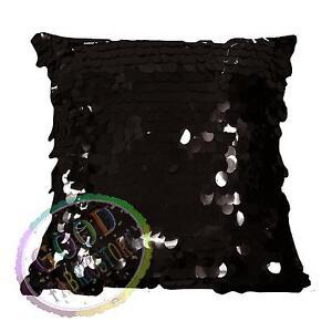 Gf502a Black 18mm Sequins w/ Velvet Cushion Cover/Pillow Case*Custom Size*
