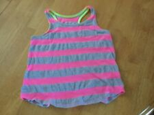 Justice Brand Tank Top Pink Gray Stripes Size 8