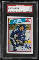 Peter Stastny Signed 1988-89 O Pee Chee #22 HOF AUTO SGC Authentic