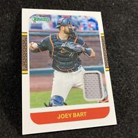 2021 Donruss Joey Bart RC Rookie - Game-Worn Relic Patch #87M-JY Retro SP RC