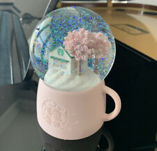 Starbucks Snow Globe Limited Edition Sold Out Pink Cherry Blossom Mug RARE!