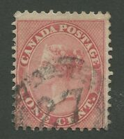 """CANADA #14 USED 4-RING NUMERAL CANCEL """"27"""" (.01)"""