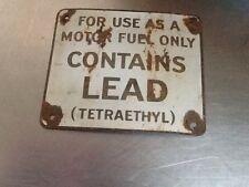 Gas Metal Sign (TETRAETHYL)