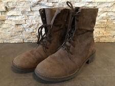 TEX Stiefel braun Größe 37 zum Schnüren mit Reißverschluß wasserdicht