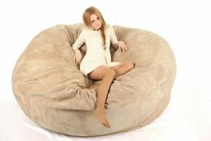 7ft Giant Big Soft Micro suede Bean Bag sofa cover Chair jumbo comfortable relax