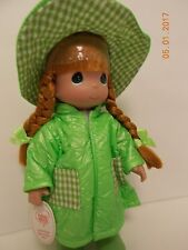"Precious Moments Friends Come Rain or Shine Ribbit 13"" Doll New Frog Hat"