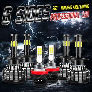 For Mercedes-Benz Sprinter2500 3500 6side LED Headlight Bulbs+Fog Lamp Combo Kit