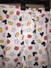 Disney Parks Authentic Original Mickey Mouse Lounge Pajama Pants Button Fly Lg