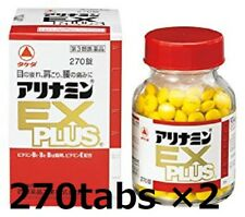 Lot 2!! ALINAMIN EX Plus 270 tablets TAKEDA Vitamin B1 B6 B12 for eyes shoulders
