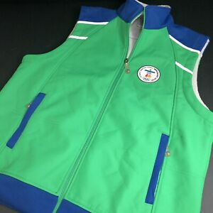 2010 Winter Olympics Vancouver Fleece Jacket Vest (Men M/L Women L/X) Green (L)