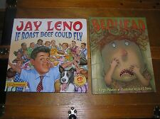 Lot of 2 Funny Comedy IF ROAST BEEF COULD FLY & Bedhead Hardcover Books