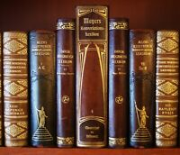 76 DECORATIVE ANTIQUE LEATHER BOOKS -  DECOR - 10 FEET OF LENGTH - FREE SHIPPING