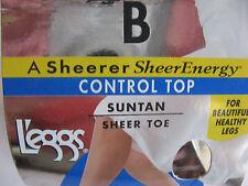 A SHEERER SHEER ENERGY CONTROL TOP SUNTAN SHEER TOE VITALITY B L'EGGS PANTYHOSE