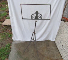VINTAGE OLD MUSIC STAND FOR NOTES ADJUSTABLE METAL TRIPOD EARLY 20th