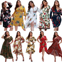 Casual dress long midi cocktail Women sundress maxi summer beach floral party