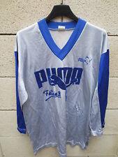 VINTAGE Maillot porté PUMA FELINE trikot n°7 oldschool rare gris shirt 4x5 L