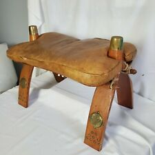VINTAGE CAMEL SADDLE FOOT STOOL