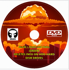 DBAN Remove Destroy Wipe Clean HDD Hard Drive Eraser Software Erase Hard Drive