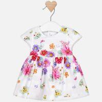 Vestito Mezza manica In Cotone con fiori multicolor ampio neonata 1834 Mayoral