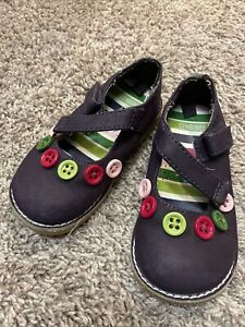 Purple Toddler Girl Button Gymboree Mary Janes Size 7