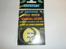 "Kryston 2 x 2pk Original Score Leadcore Spliced Leaders 24"" 45lb Fishing tackle"