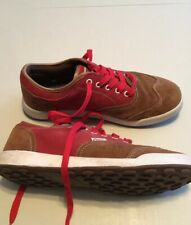 Game Suede Shoes Brown/Red Size 8
