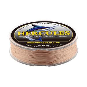Hercules Not Fade 4 8 Strands PE 6-300 lb Braided Fishing Line Brown 109-2187yds
