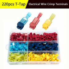 T-Tap/Male Insulated Wire Terminal Connection Car Alarm Radio Installation 220Pc