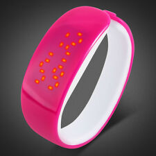 Women Men Lovers Sport Date Waterproof LED Plating Bracelet Digital Wrist Watch