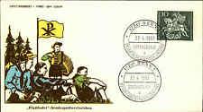 1961 Ersttag FDC Pfadfinder Schutzpatron Erstausgabe Sonderstempel BONN Brief